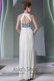 Ivory Grecian Halter Dress DQ830937