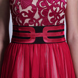 Red Lace Formal Prom Evening Dress DQ830969