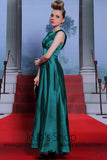 Teal Jewel Neck Formal Prom Evening Dress DQ830972