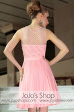Pink Short Sweet Heart Bridesmaid Party Evening Cocktail Dress DQ86058