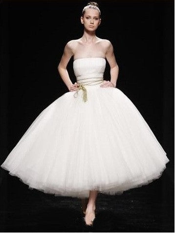 Strapless Ballerina Tulle Wedding Dress