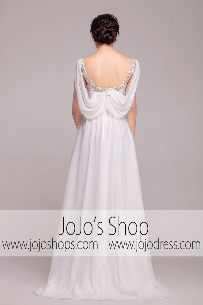 Grecian Goddess V Neck Jeweled Dress | G2006