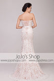 Vintage Strapless Lace Overlay Mermaid Wedding Dress | G2010