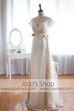 Low Back Vintage Wedding Dress Empire Waist Wedding Dress | G8002