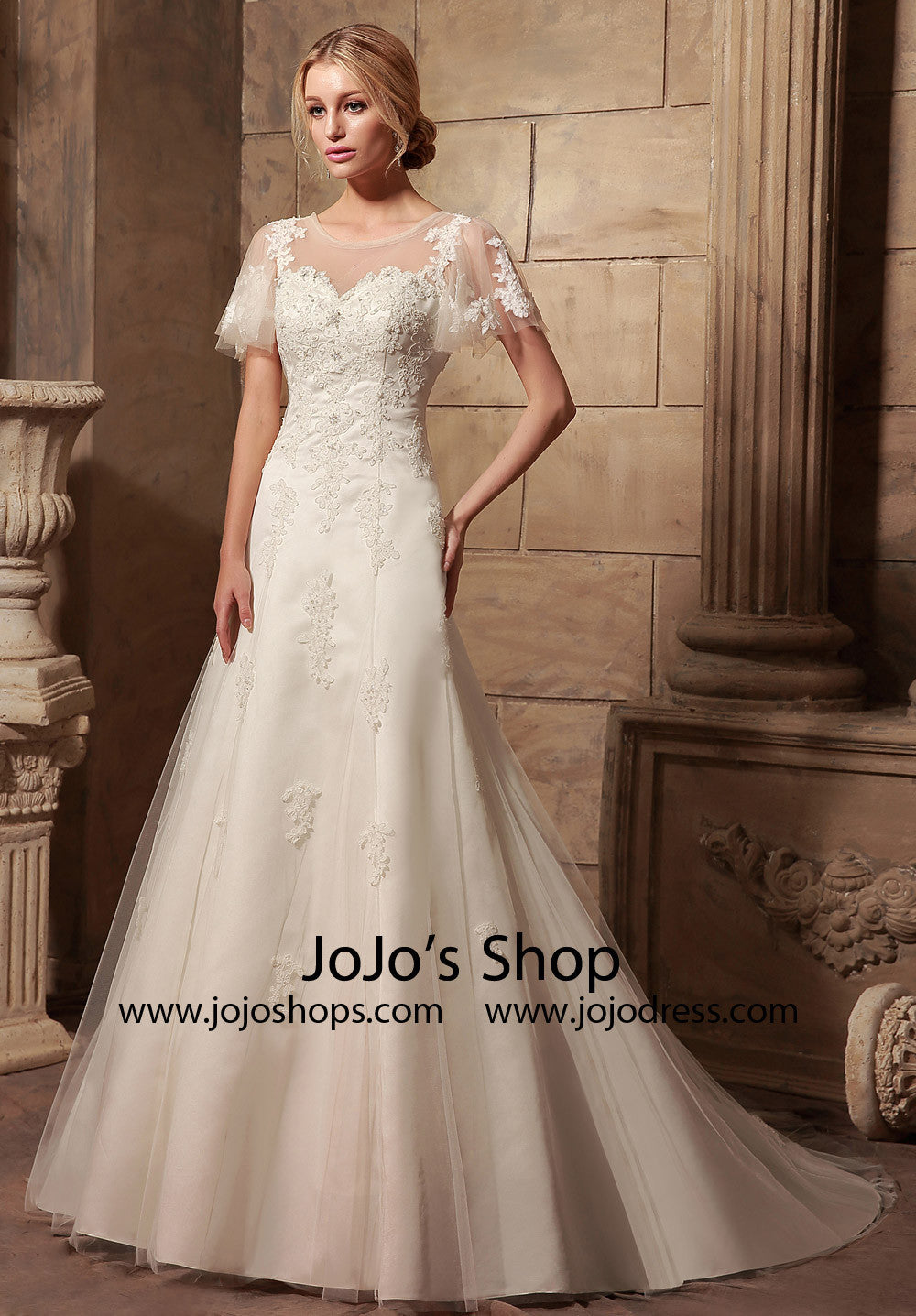 472405dc505 Vintage Style Wedding Dresses With Sleeves