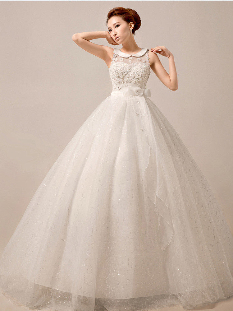 Retro Debutante Ball Dress with Peter Pan Collar MX5014