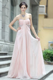 Strapless Pink Long Evening Formal Dress