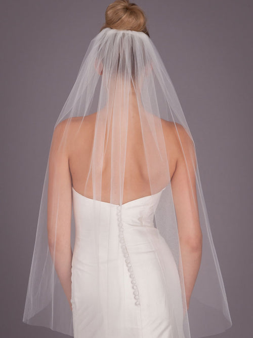 Short One Layer Tulle  Wedding Veil