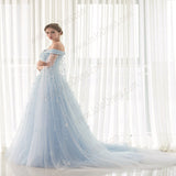 Blue Elsa Gown Prom Formal Dress EN19090087