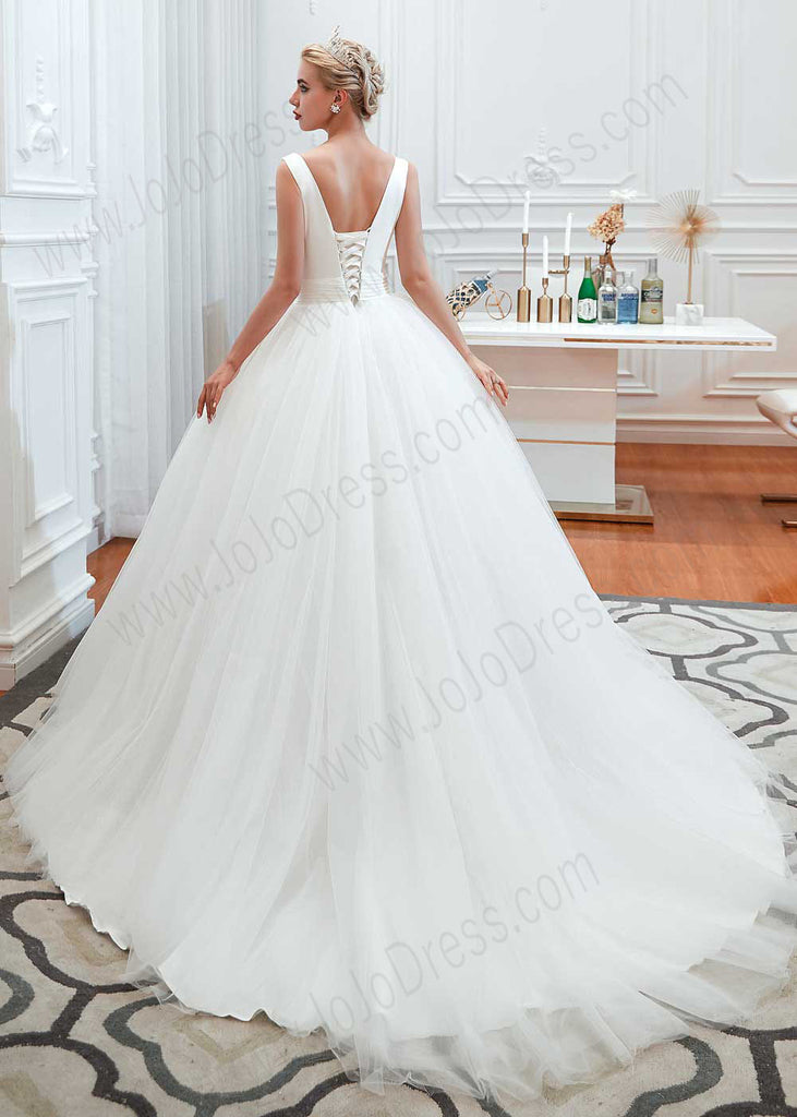Princess Ball Gown Dress With Plunging V Neck Jojo Shop