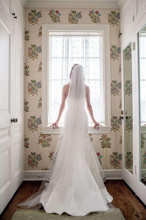 Long Chapel Length Tulle Wedding Veil VL3010