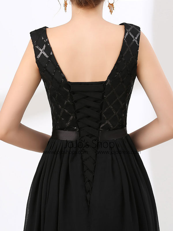 Elegant Long Black Formal Evening Dress