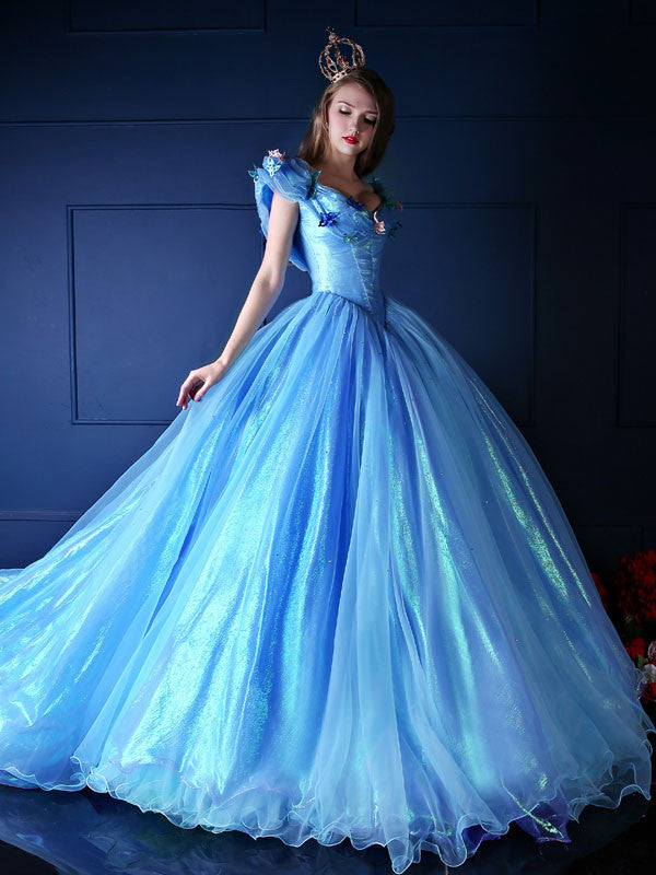 2015 Cinderella Blue Ball Gown Dress