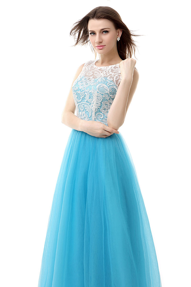 Lace Tulle Formal Prom Evening Dress