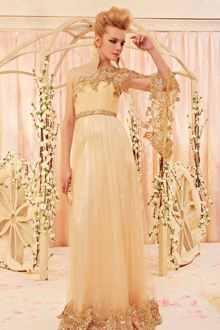 Gold Grecian One Shoulder Goddess Homecoming Evening Dress CX830358