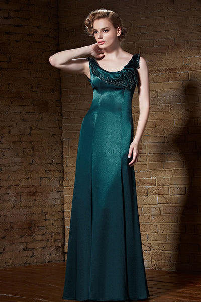 Teal Long Formal Prom Beauty Pageant Evening Dress | CX882189