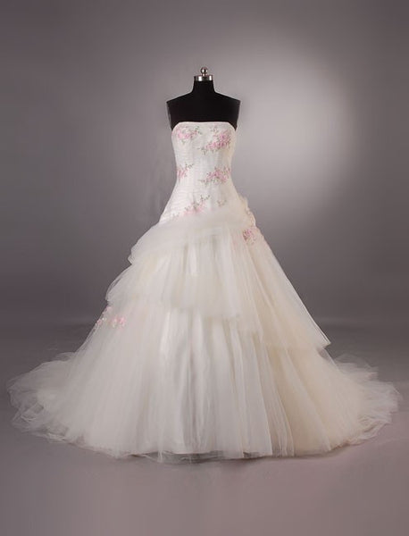Cherry Blossom Garden Wedding Dress