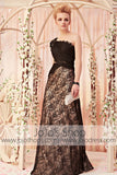 Mystic One Shoulder Black Lace  Evening Dress CX830285