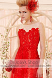 Retro Red Vintage Style Evening Dress CX830396