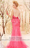Retro 30s and 40s Hot Pink Fuschia Full Length Formal Pageant Dress CX830500