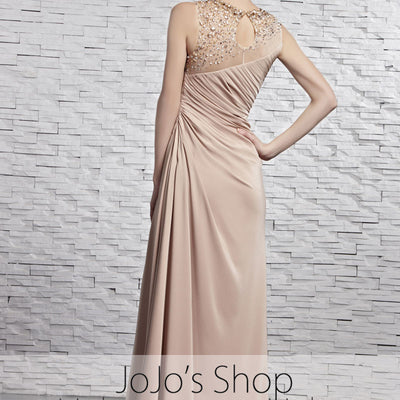Light Brown Stylish Evening Dress CX881359