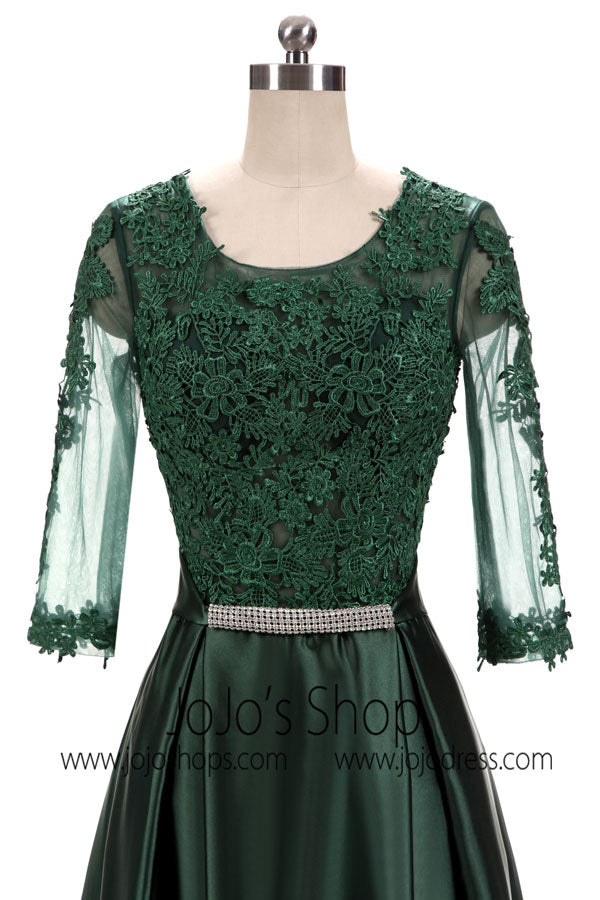 Dark Green Lace Formal Special Occasion Wear