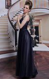 black halter chiffon formal dress prom dress evening dress