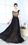 Black Modest Formal Long Evening Prom Dress