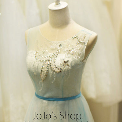 Ice Blue Fairy Tale Formal Prom Evening Dress