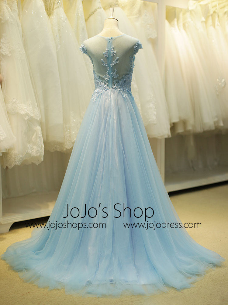 Fairytale Ice Blue Formal Long Evening Prom Evening