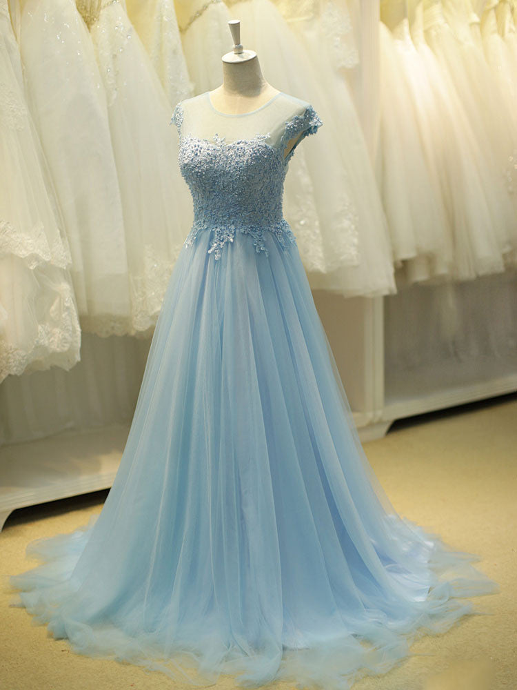 Fairytale Ice Blue Formal Long Evening Prom Evening – JoJo Shop