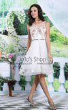 Ivory Short Cocktail Semi Prom Prom Dress | DQ86113