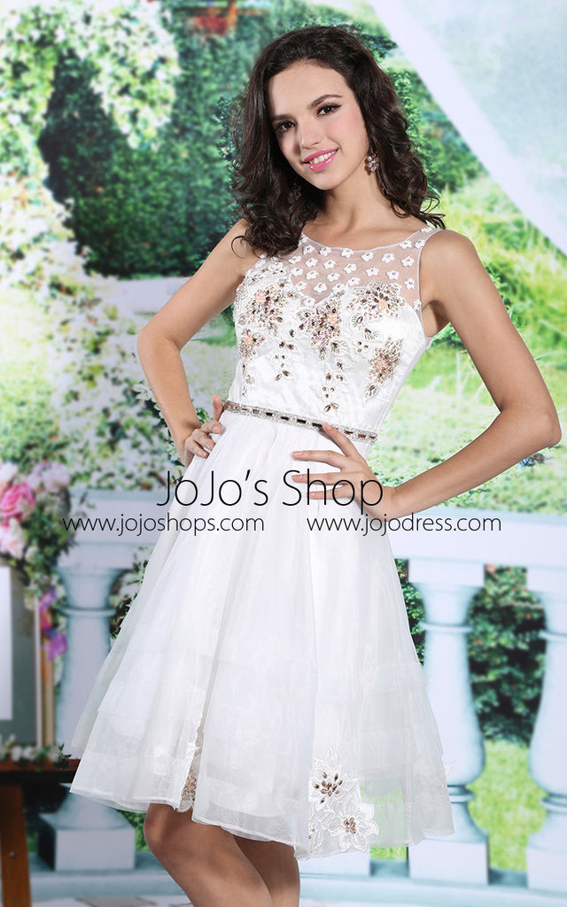 official supplier hot-seeling original world-wide selection of Ivory Short Cocktail Semi Prom Prom Dress | DQ86113