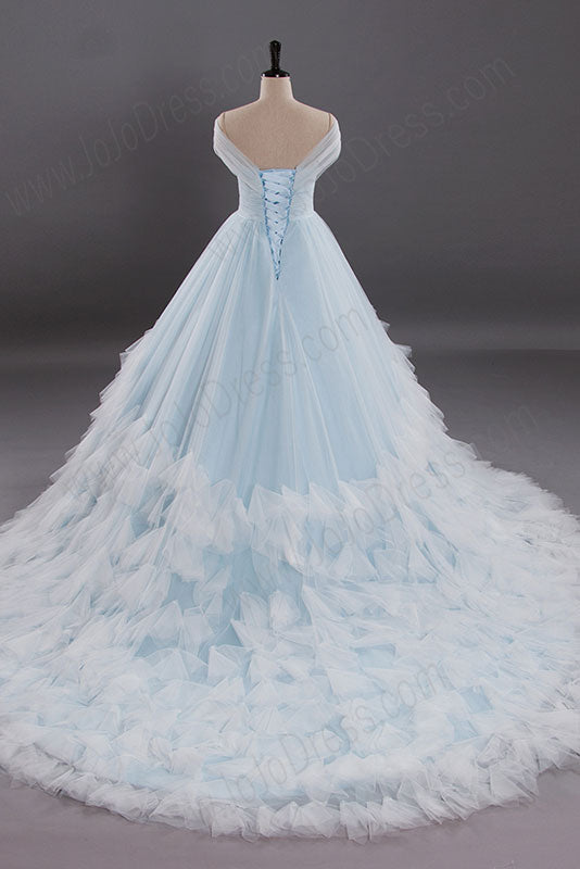 Light Blue Ball Gown Wedding Dress AL3015