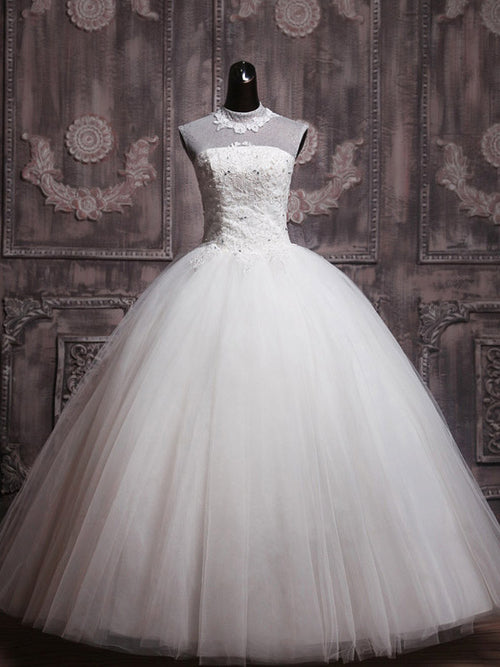 Keyhole  Modest Debutante Ball Gown Wedding Dress
