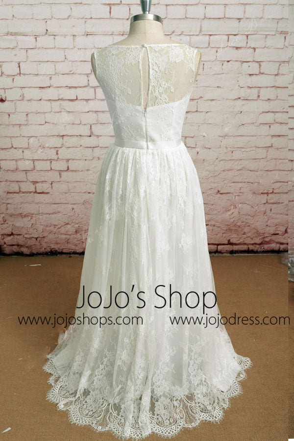 Elegant Vintage Style Lace Dress with French Lace | EE3002