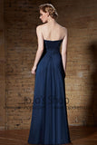 Strapless Navy Blue Long Formal Military Ball Gown Prom Dress | CX882150