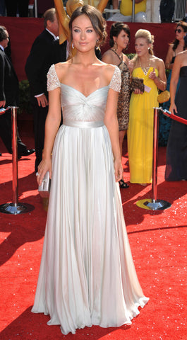 Olivia Wilde Emmys Short Sleeves Red Carpet Dress
