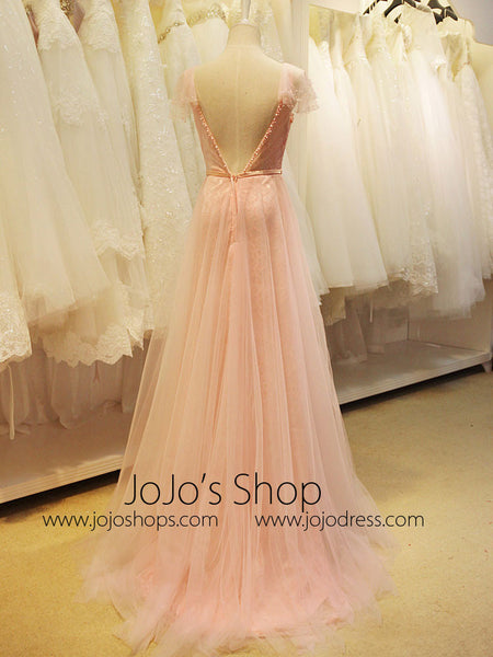 Blush Pink Fairy Tale Formal Prom Evening Dress Jojo Shop