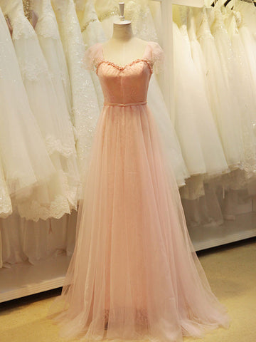 Blush Pink Fairy tale Formal Prom Evening Dress