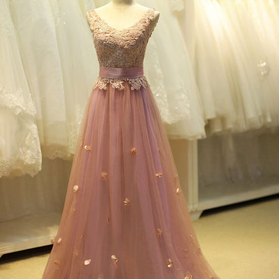 Pink Lace Fairy Tale Prom Formal Evening Dress