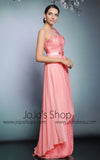 Pink Grecian Long Chiffon Formal Prom Evening Dress | DQ831226
