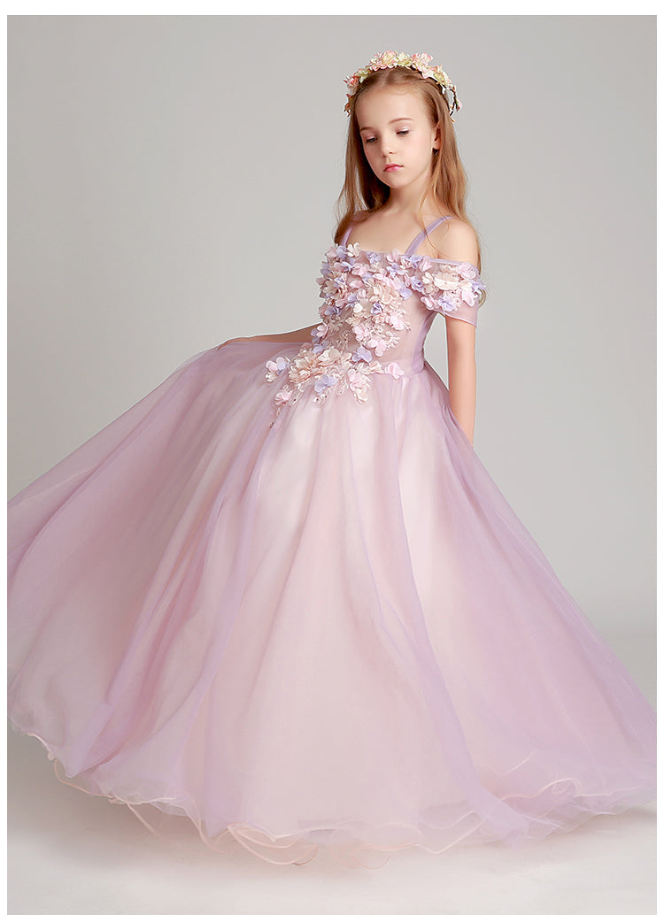 Flower Girl Princess Ball Gown Party Dress Birthday Dress