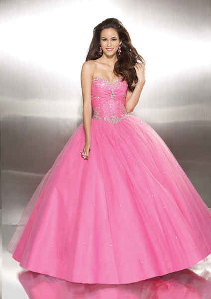 Pink Quinceanera Ball Gown