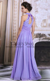 Purple Halter Keyhole Formal Prom Evening Dress | DQ831192