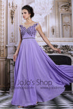 Purple Modest Grecian Formal Prom Evening Dress | DQ831249