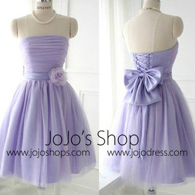 Purple Vintage Short Prom Formal Dress Bridesmaid Dress