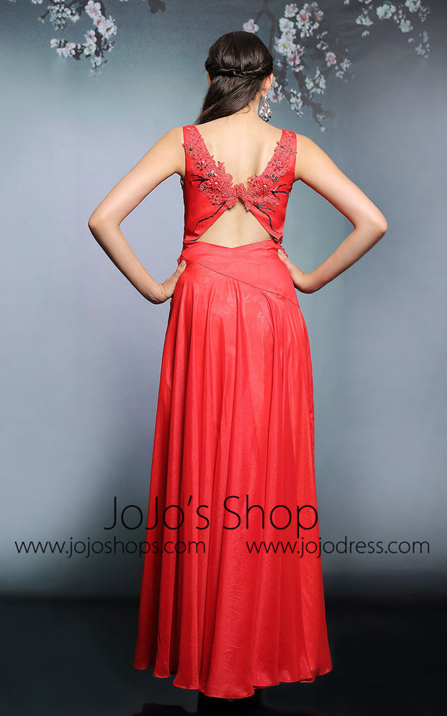 Red Sleeveless Hot Long Formal Prom Evening Dress | DQ831281