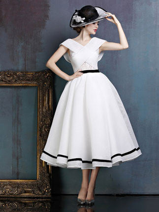 Retro 50s 60s Open Back Prom Formal Evening Dress | X036
