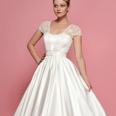 Short Lace Wedding Dress Reception Dress